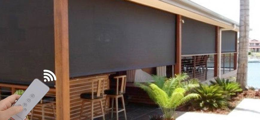 Outdoor Motorized Roller Shades