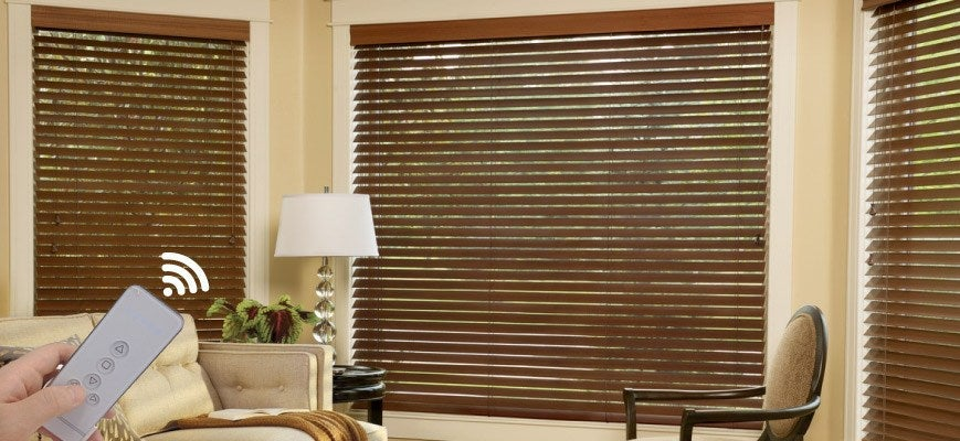 Motorized Wooden Blinds