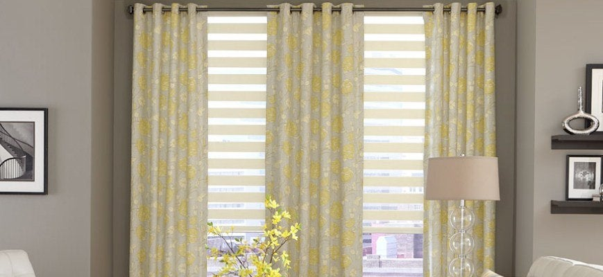 Sheer Curtains with Window Shades