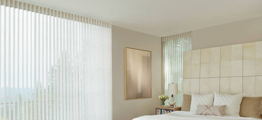 Sheer Vertical Shades for Bedroom