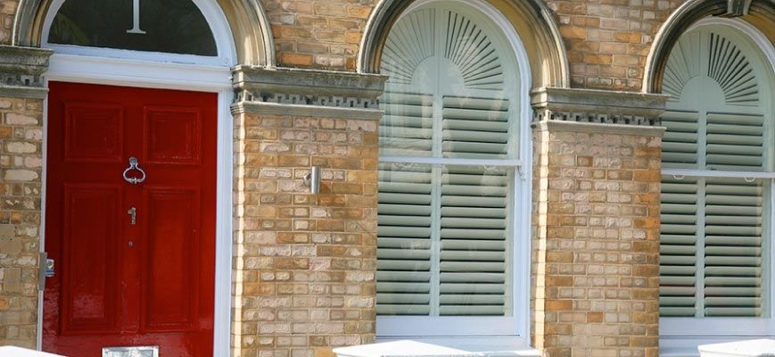 Arched Shaped Exterior Shutters