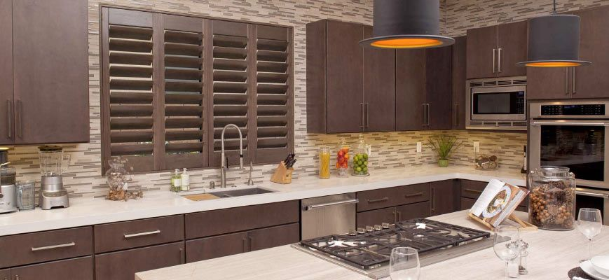 Wooden Shutters for Kitchen