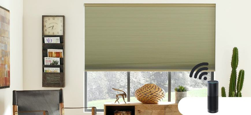 Blackout Cellular Shades with Alexa