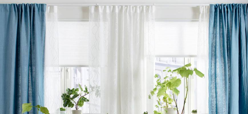 Layering Window Shade with Curtain