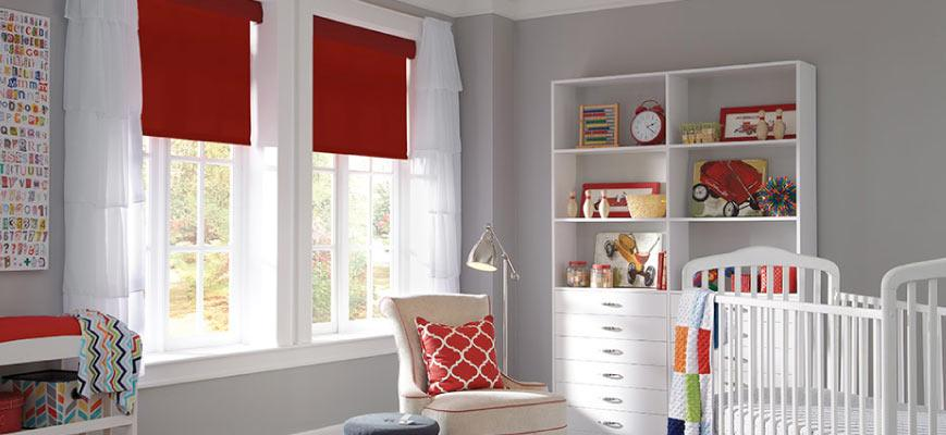 Motorized Roller Shades for Baby Nursery Room
