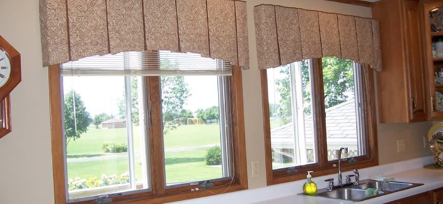 Pleated Valances for Kitchen