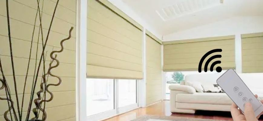Remote Controlled Roman Shades
