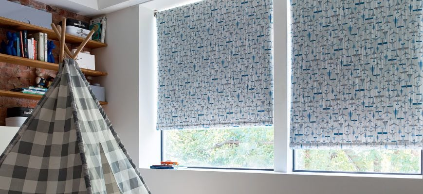 Roman Shades for Kids Room