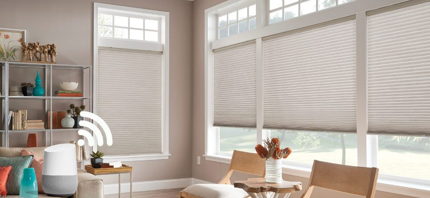 Smart Google Home Cellular Shades