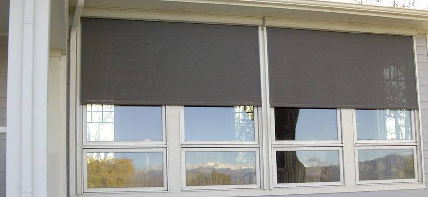 Blackout Roller Shades for Outdoors