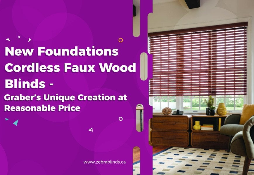 New Foundations Cordless Faux Wood Blinds