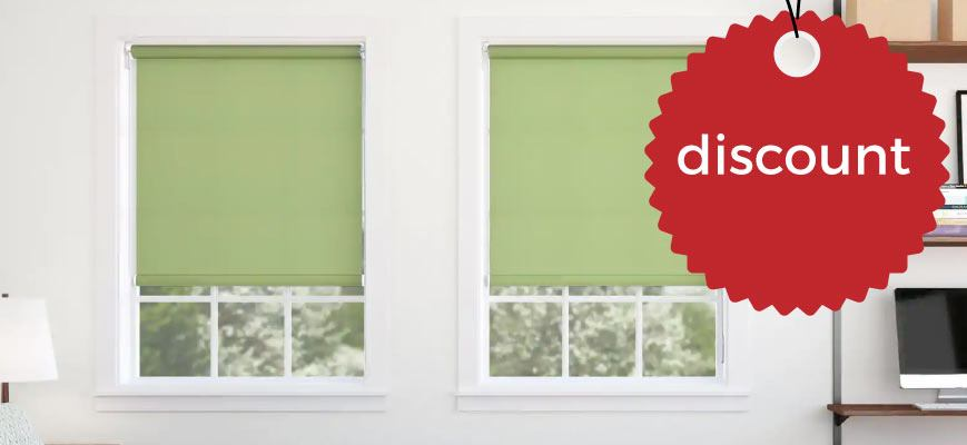 Discount on Roller Shades Oline