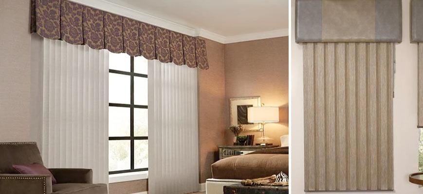 Vertical Blinds Layered With Curtain