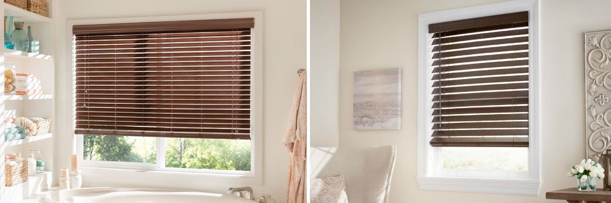 Faux Wood Blinds for Curb Appeal