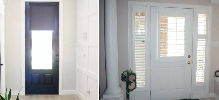 Window Treatments for Front Doors
