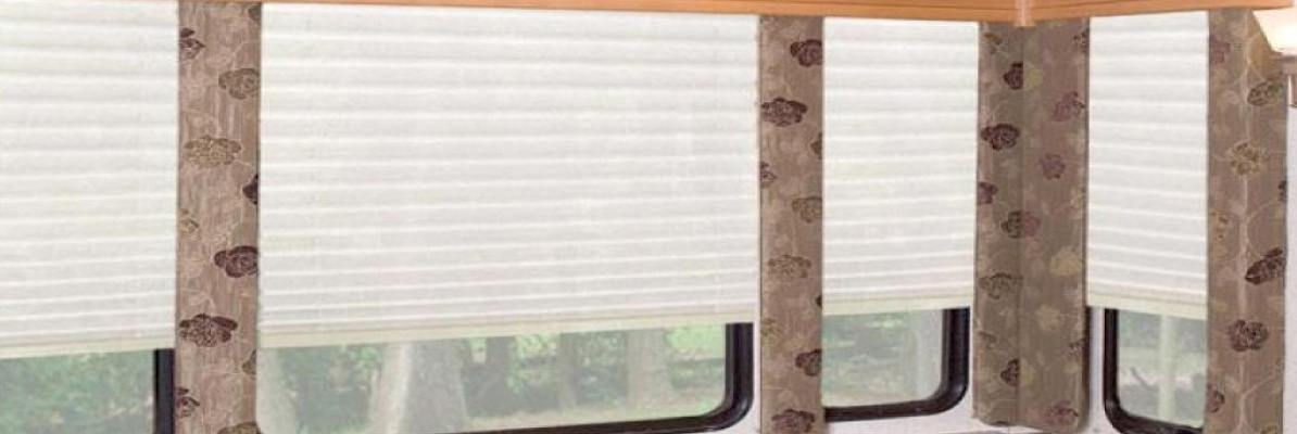 Pleated Shades for RV Windows