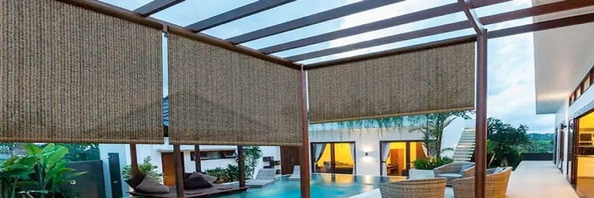 Outdoor Roller Bamboo Shades