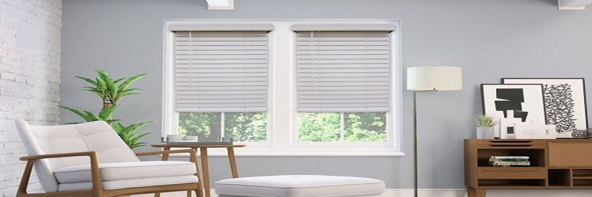 2-inch Cordless Faux Wood Blinds Crown