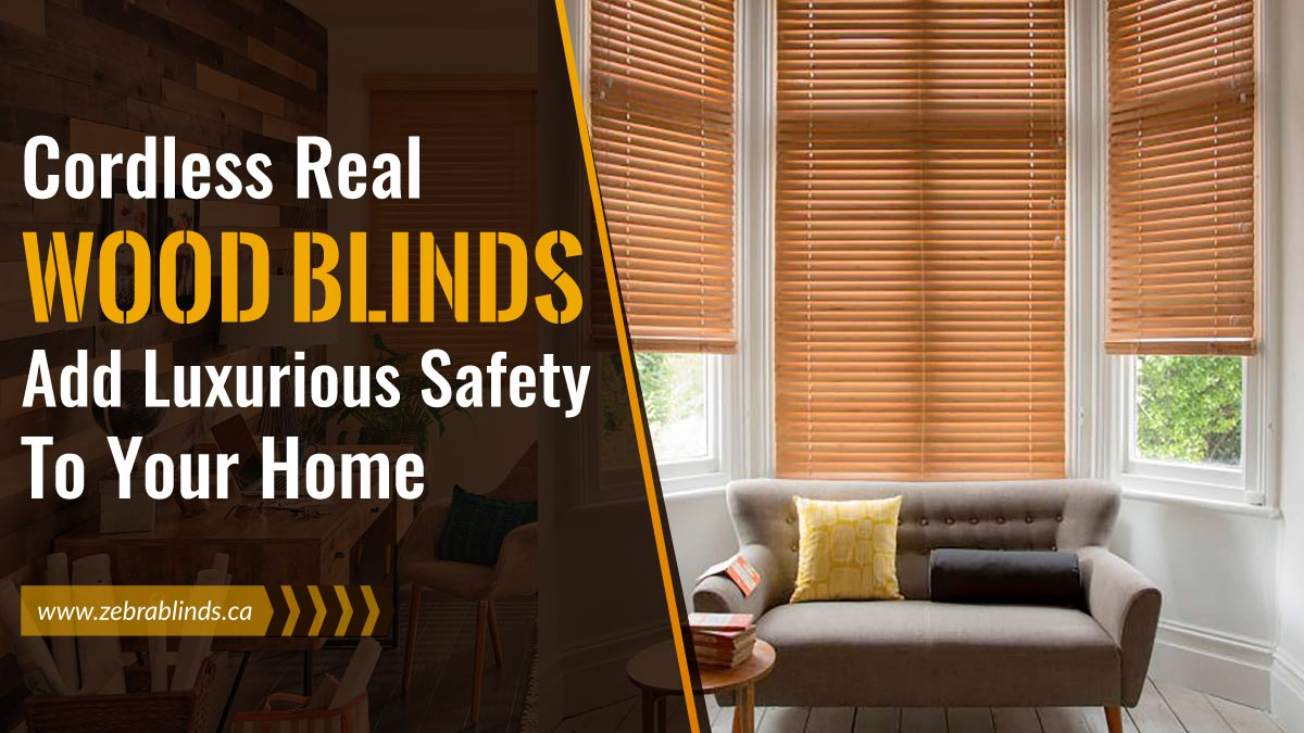 Cordless Real Wood Blinds