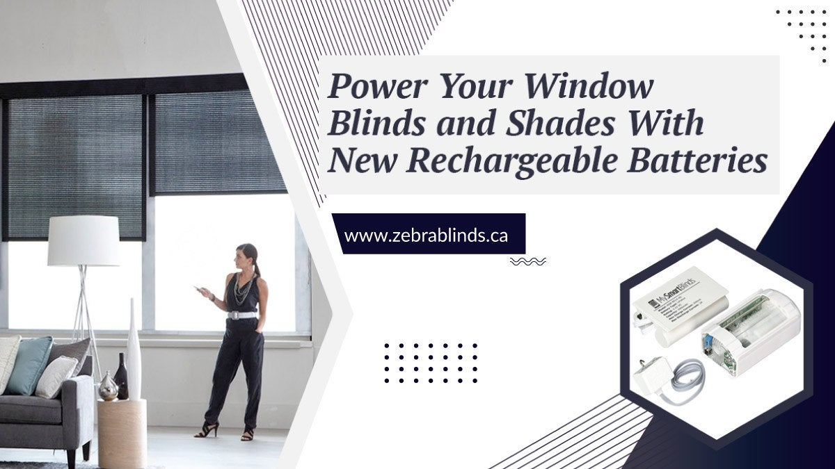 Power Window Blinds Shades with New Rechargeable Batteries