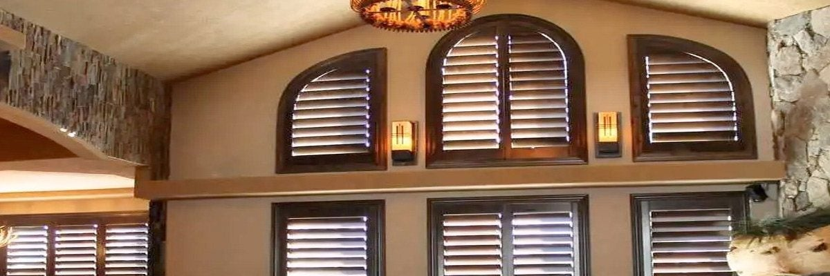 Wood Blinds for Palladian Windows