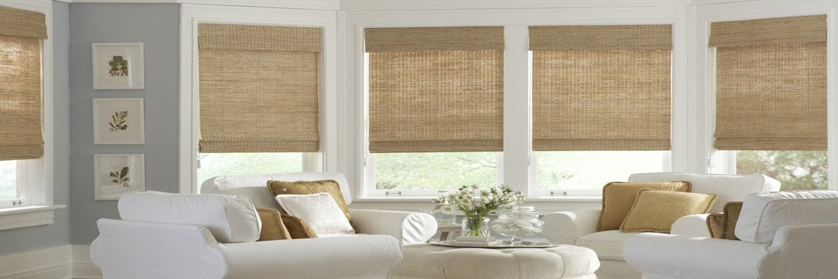 Woven Wooden Shades for Sunroom