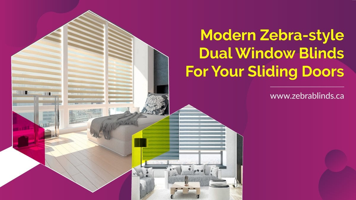 Dual Window Blinds for Sliding Glass Doors