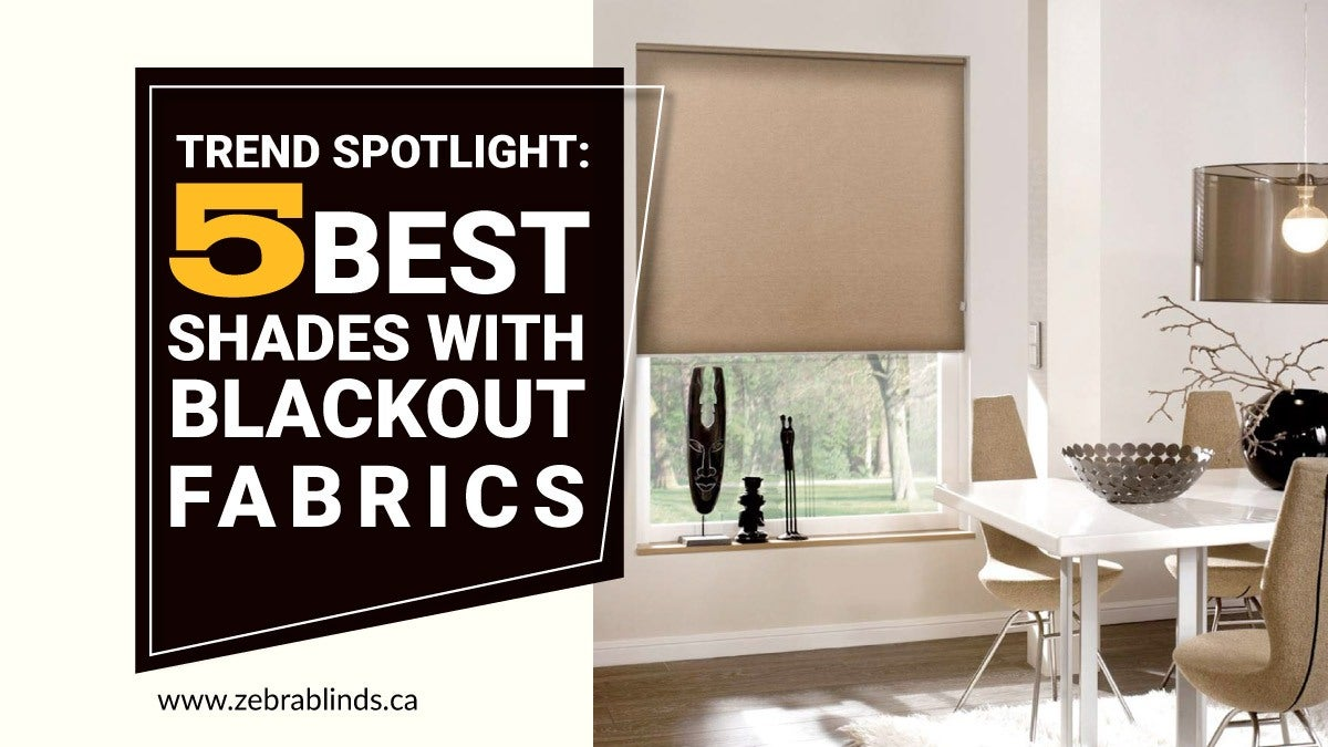 Trend Spotlight Best Shades with Blackout Fabrics