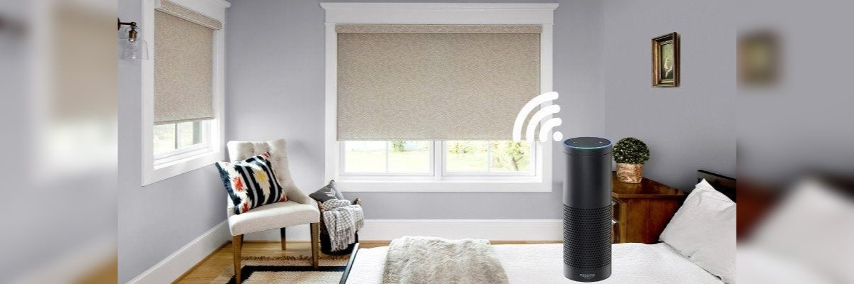 Voice Enabled Shades for Bedroom