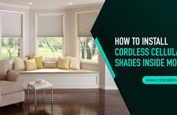 How To Install Cordless Cellular Shades Inside Mount