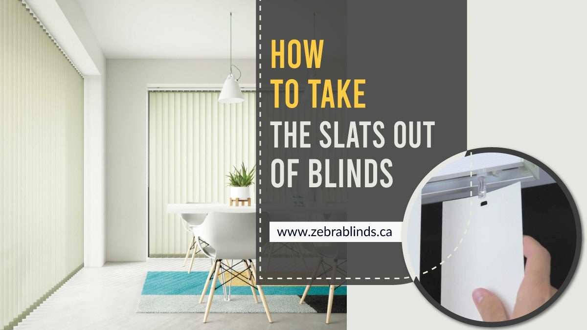 How To Take the Slats Out of Blinds