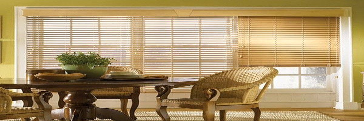 Faux Wood Blinds for Beach Cottage