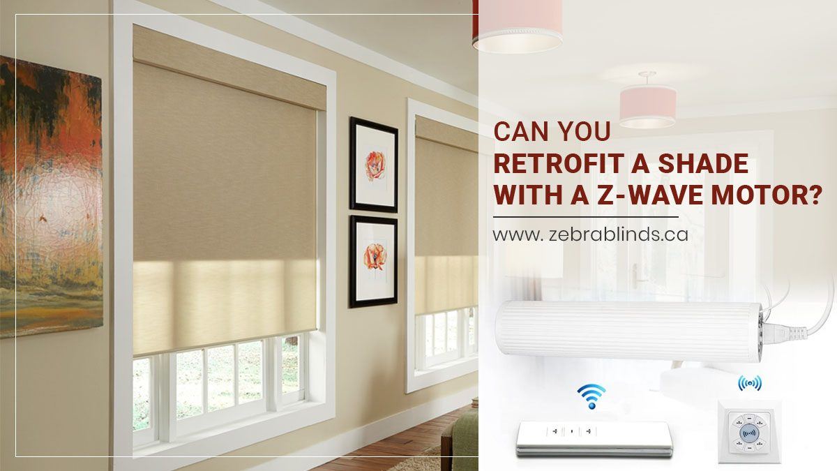 Can You Retrofit A Shade With A Z Wave Motor