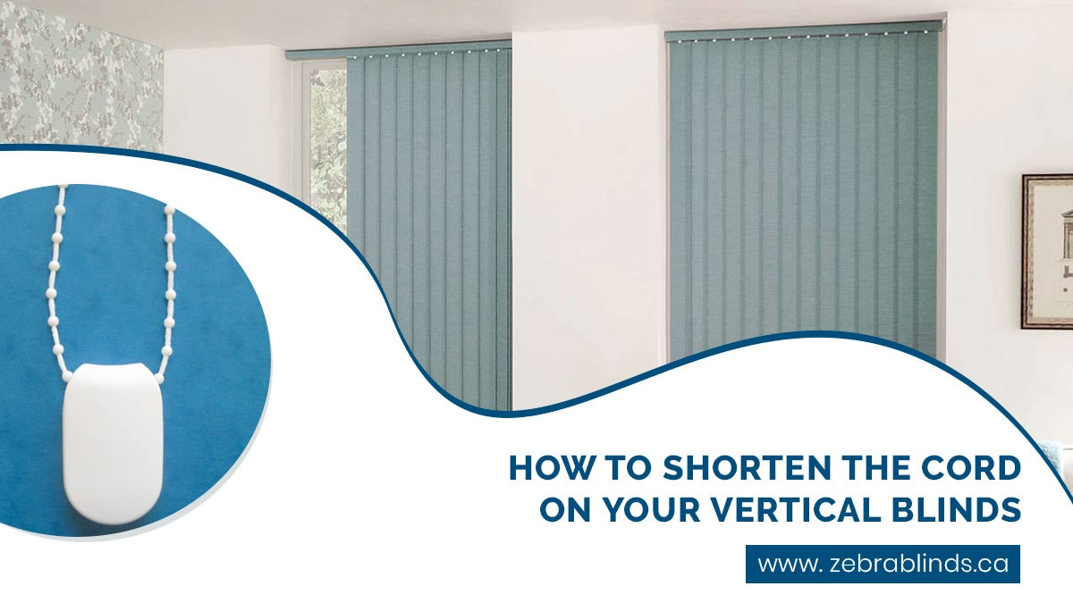 How To Shorten The Cord On Vertical Blinds
