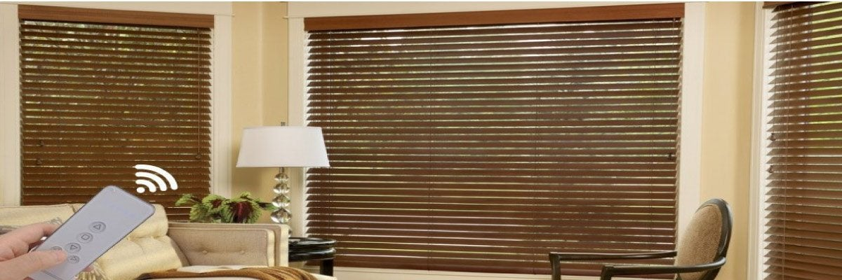 Remote Contro Wood Blinds