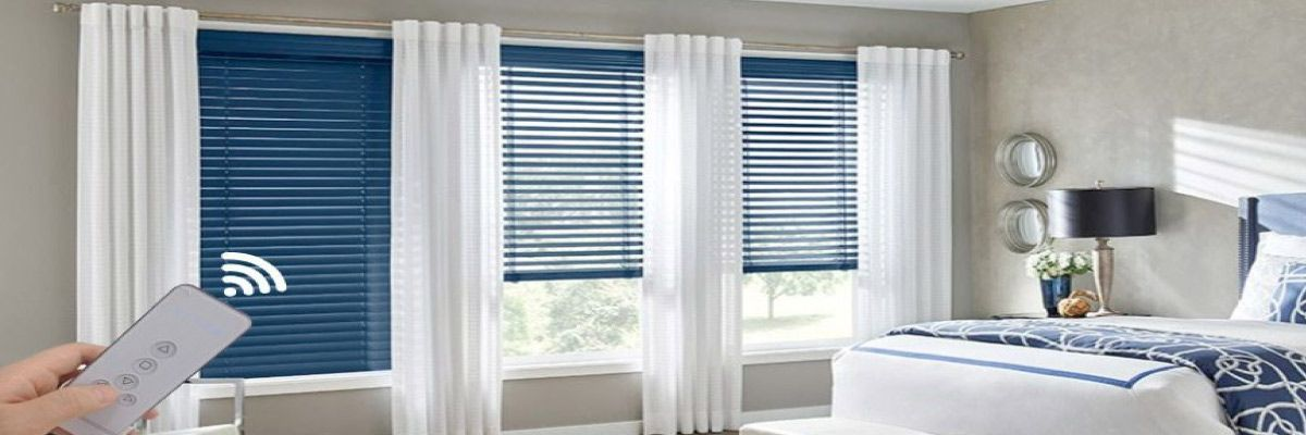 Remote Control Wooden Blinds
