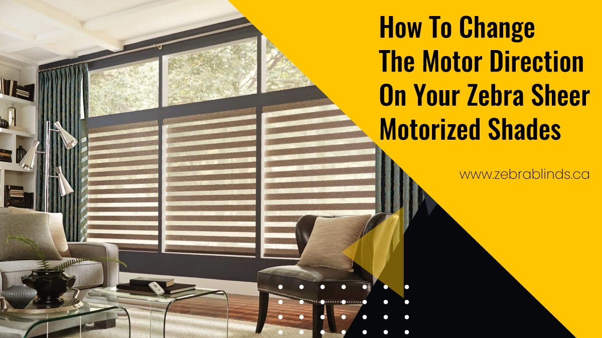 How To Change The Motor Direction On Your Zebra Sheer Motorized Shades