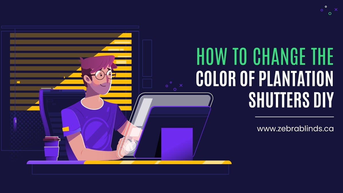 How To Change The Color of Plantation Shutters DIY