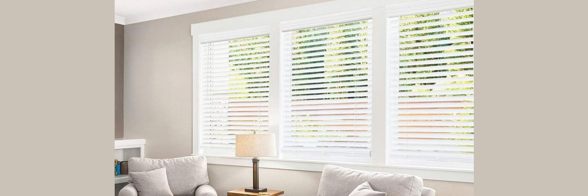 Faux Wood Blinds for Large Windows