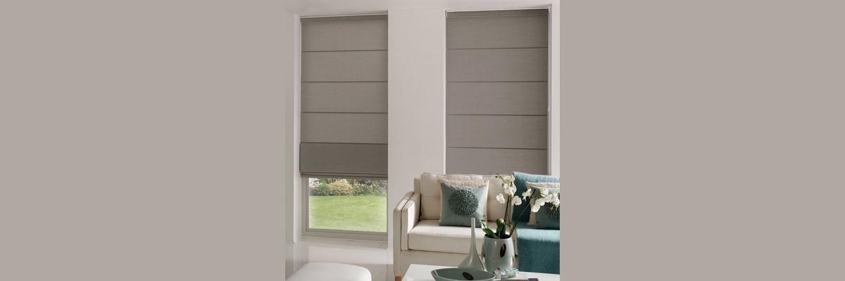 Roman Blinds with Lining