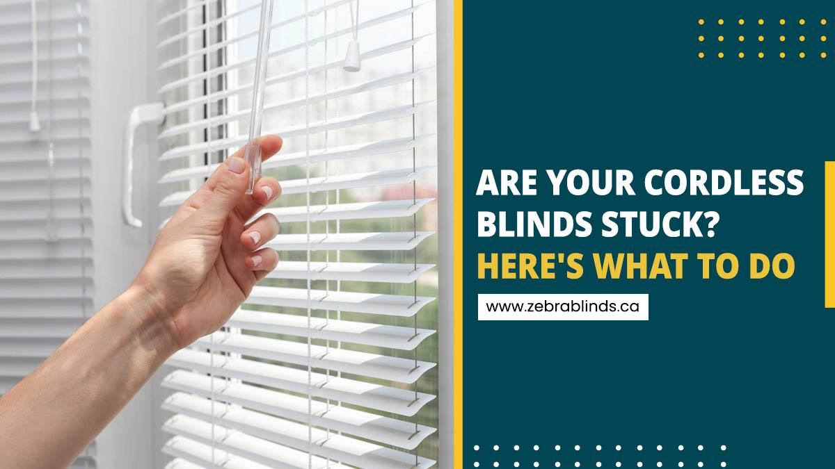 Are Your Cordless Blinds Stuck-Here's What To Do
