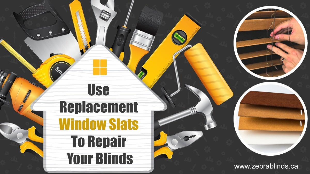 Use Replacement Window Slats To Repair Your Blinds