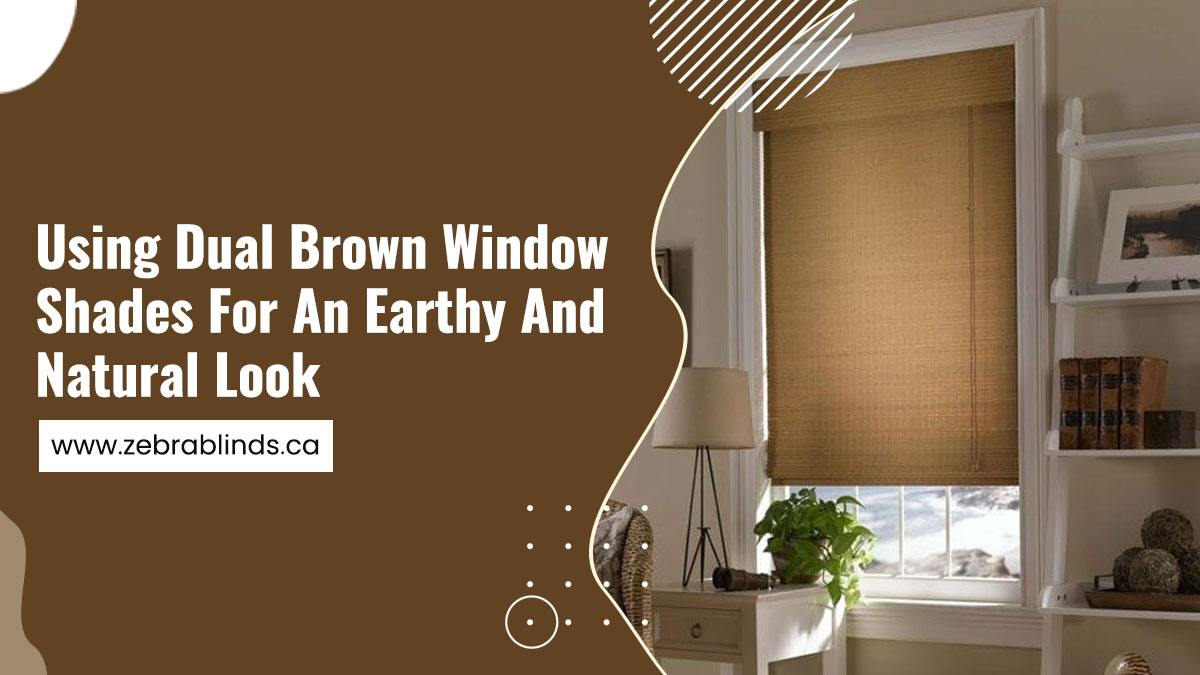 Using Dual Brown Window Shades for An Earthy And Natural Look