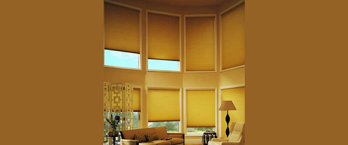 Yellow Mini Blinds for Living Room
