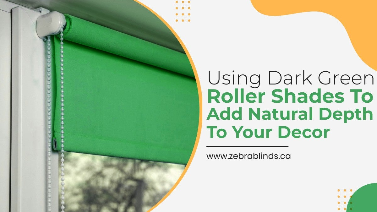 Using Dark Green Roller Shades to Add Natural Depth to Your Décor