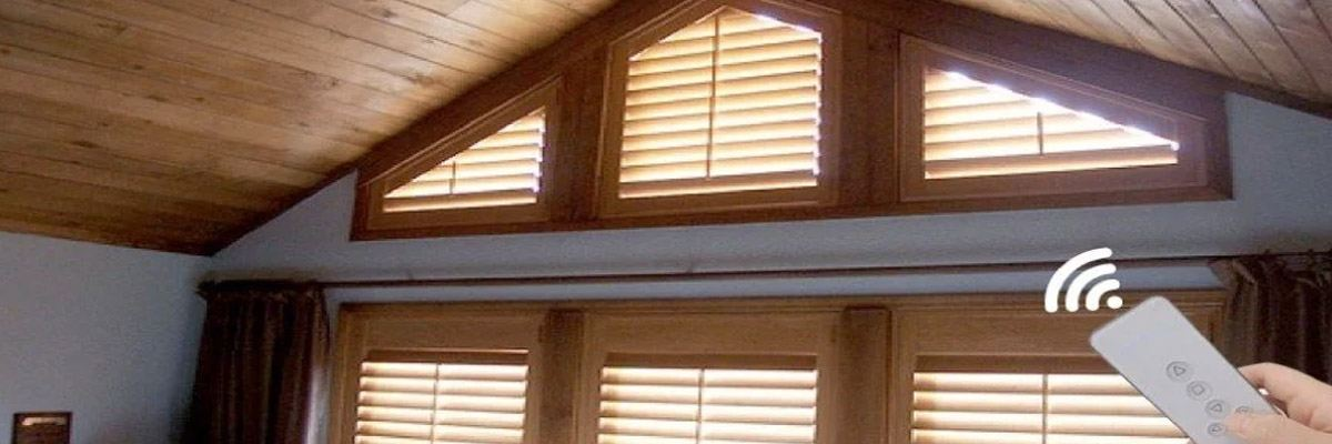 Vaulted Ceiling Motorized Window Coverings
