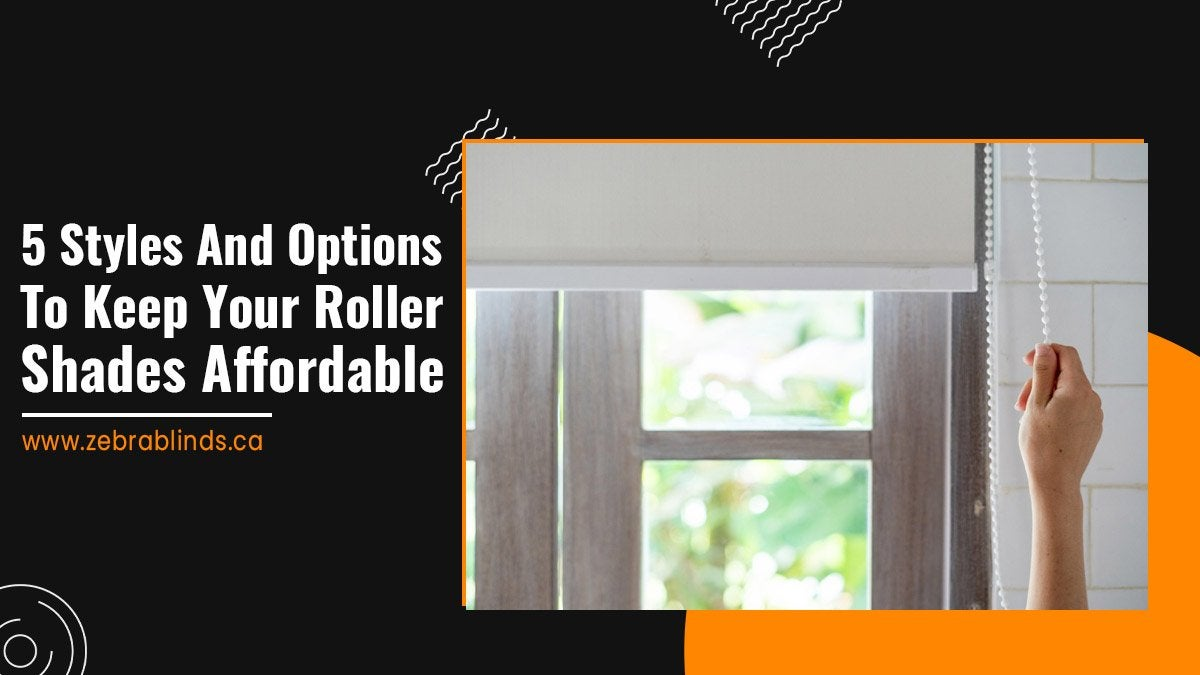 5 Styles and Options to Keep Your Roller Shades Affordable
