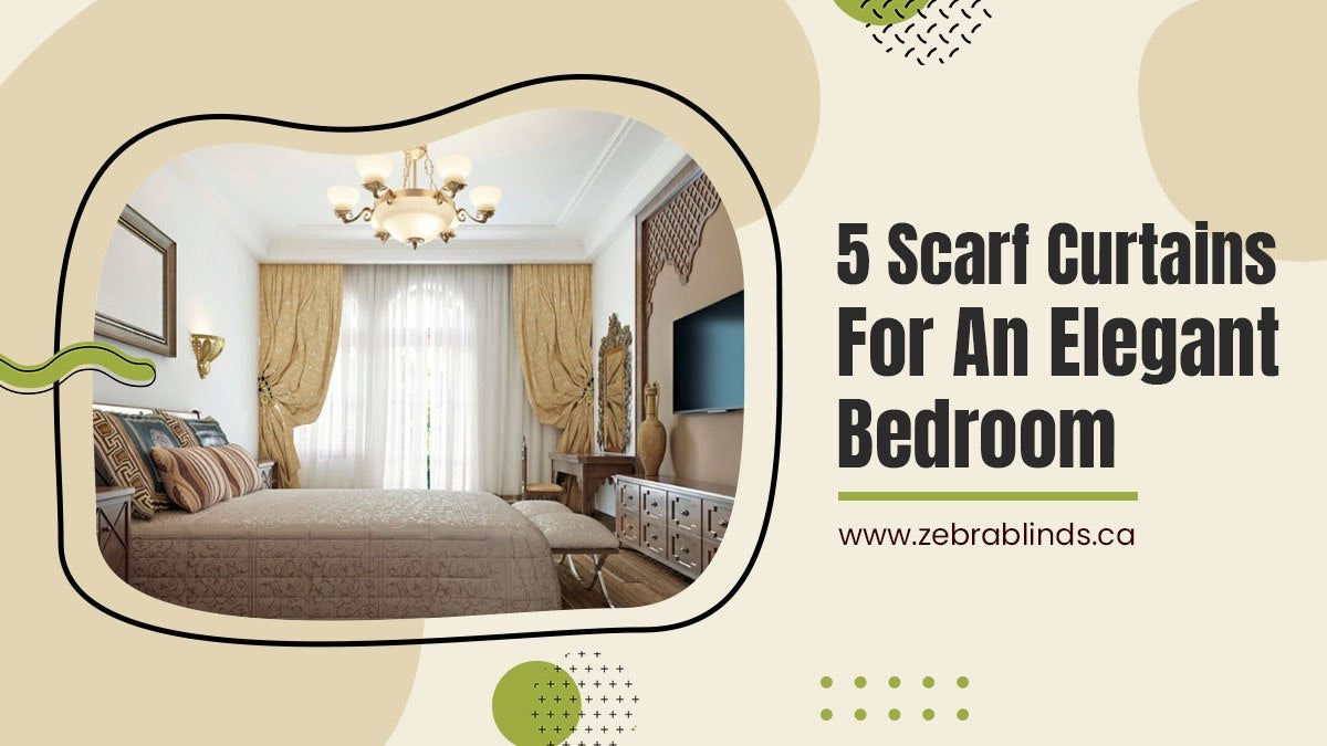 5 Scarf Curtains for an Elegant Bedroom