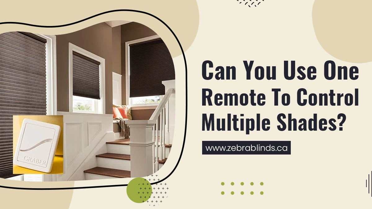 Can You Use One Remote to Control Multiple Shades?
