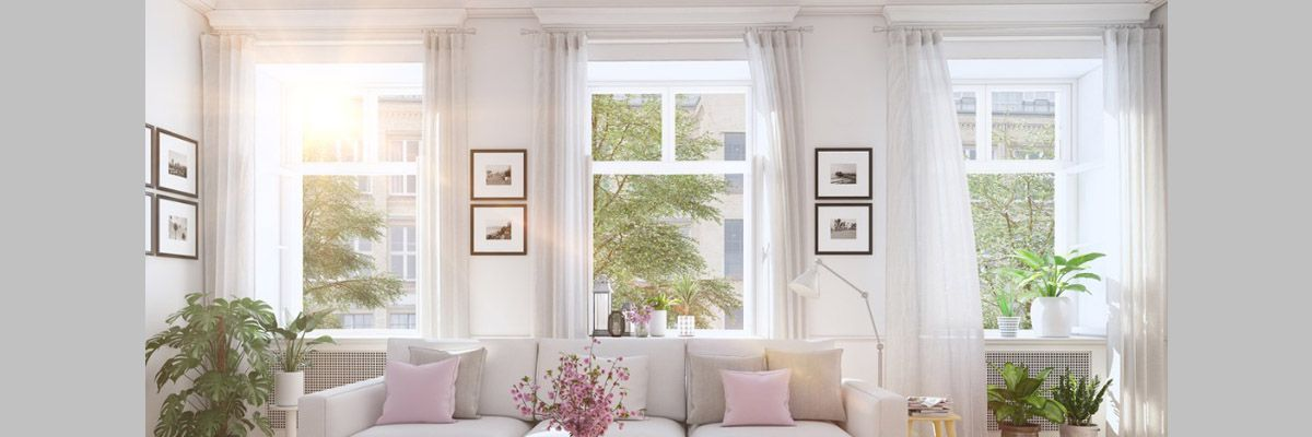 Living Room with Sheer Drapery